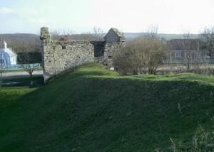 Залишки укріплень фортеці в Окопах