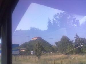 Мукачівський замок - вид з вікна автомобіля