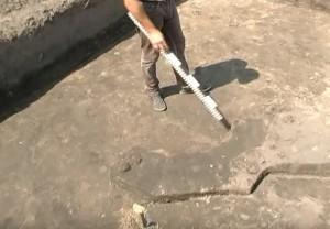 Так виглядає розкоп черняхівського житла