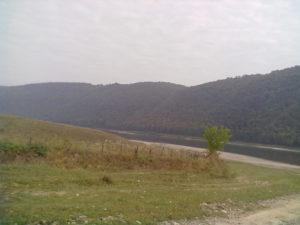 Дністер у селі Делева Тлумацького району