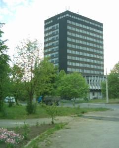 Адміністративна башта заводу Позитрон, потім - Галицька академія, зараз - центр польської освіти