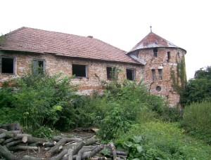 Господарські споруди і башта біля палацу Реїв у Псарах