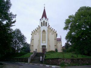 Костел святого Валентина в Калуші на місці замкового костелу