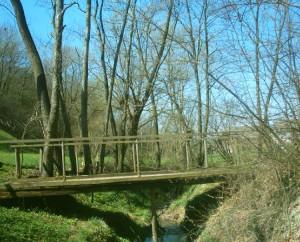 Мостик через Мозолів потік - шлях до джерела Франціскові очі в Крилосі