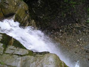 Манявський водоспад, вид зверху