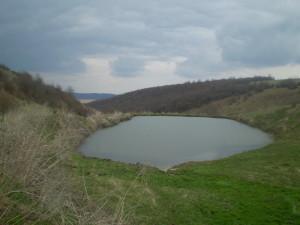 Озеро-загата біля Дністра поблизу села Підвербці