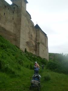 Хотинський замок від Дністра