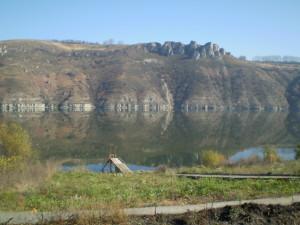 Дністер біля села Грушівці - можливо тут був античний Трифілум