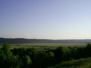 Долина Дністра поблизу Буківної