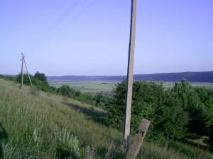 Долина Дністра біля Золотої Липи, навпроти Буківної