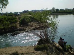 Рибалка на Бистриці НадвірнянськійРибалка на Бистриці Надвірнянській