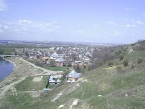 Село Вовчинець, вид з Вовчинецької гори