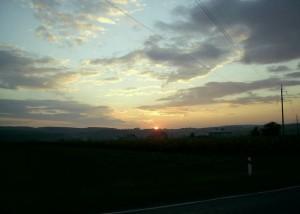 Схід сонця над Дністром у Городенківському районі