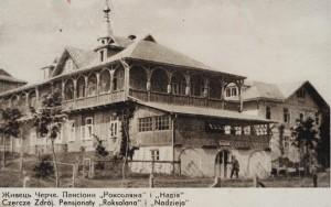 Стара фотографія санаторію в Черче
