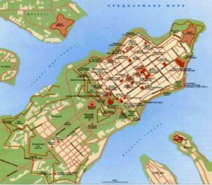 Сучасна карта Валетти