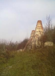 Труби вапнярки у селі Незвисько