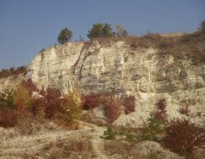Вапняна скеля і золота осінь