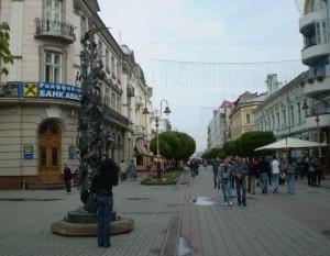 Вулиця Незалежності в Івано-Франківську, яку ще називають Стометрівкою