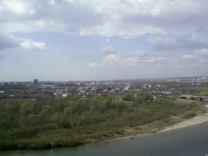 Вид на Івано-Франківськ з села Вовчинці