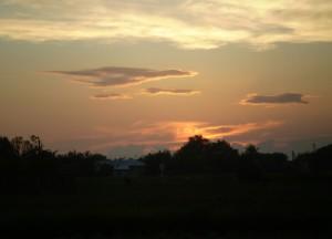 Захід сонця у Вовчинцях