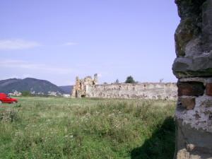Двір Пнівського замку у місті Надвірна