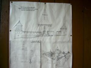 Реконструкція замку довкола Успенської церкви в селі Крилос