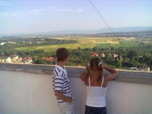 Вид на Карпати Закарпатської області з Мукачівського замку