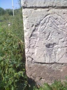 Графіті - голова на наріжному камені замку