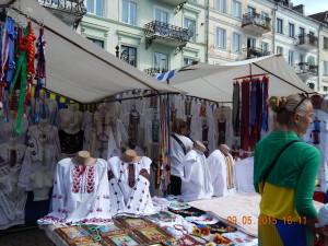 Вишиванки на Майдані Шетицького