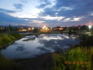 Солотвинські озера увечері