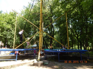 Батут в парку Шевченка