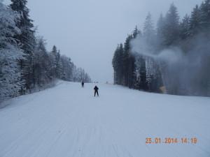 Траси ретельно обробляються напилювачем снігу