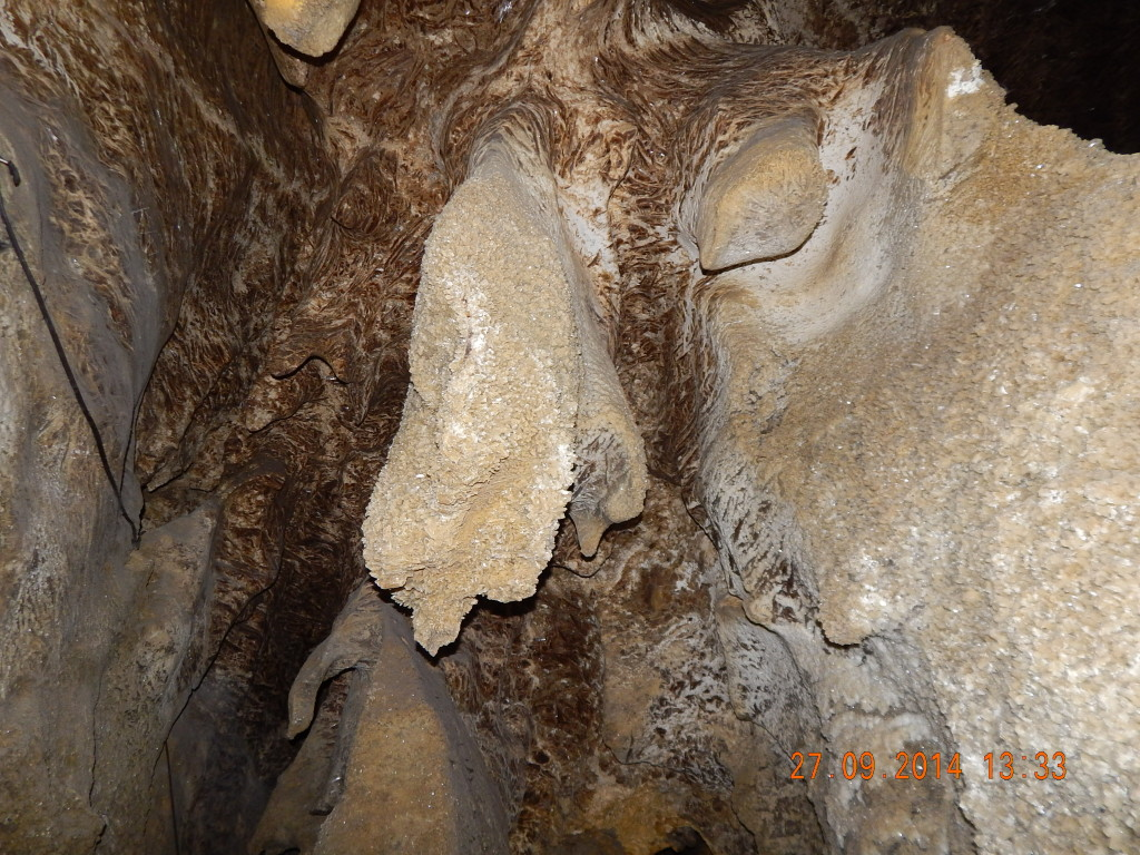 Гіпсові форми в печері