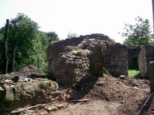 Руїни замку у центральному парку міста Надвірна