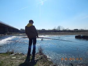Рибалка біля вовчинецького моста На Бистриці НадвірнянськійРибалка біля вовчинецького моста На Бистриці Надвірнянській
