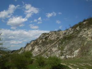 Скелі на Вовчинецькій горі Стінка