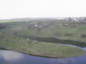 Півострів на ріці Жванець - частина трипільського городища
