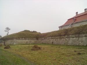Стіни Золочівського замку і бастіон