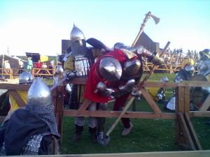 Лицарські бої - бугурти - найвидовищна частина програми фестивалю Стародавній Меджибіж