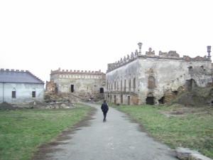 Будівлі у замковому дворі Меджибожа