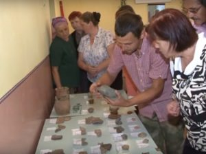 В археологічному музеї Мостищина