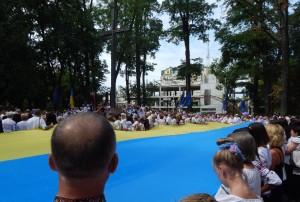 Парад вишиванок на День незалежності України в Івано-Франківську