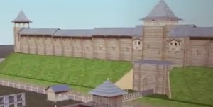 Приблизно так виглядали укріплення давньоруського звенигорода