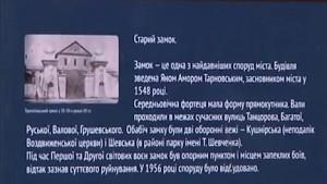 Вказівник для туристів поблизу тернопільського замку