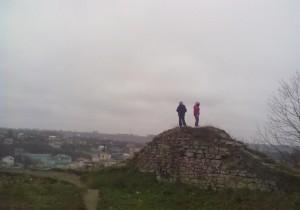 Вид з бучацького замку на місто Бучач - сюди можна заїхати по дорозі на прощу в Зарваниці