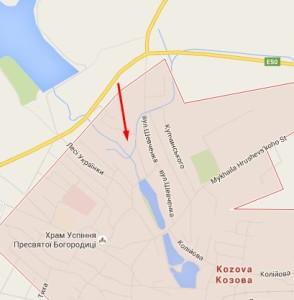 Злиття річок у Козовій - можливо тут був замок