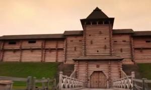 Зразок дерев'яних укріплень