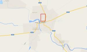 Карта Гримайлова, у прямокутнику - парк із замчищем