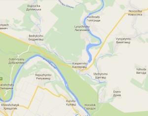 Карта Касперівців