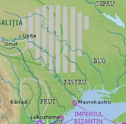 Територія болохів в давньоруський час - влахів, які були значною мірою слов'янізовані